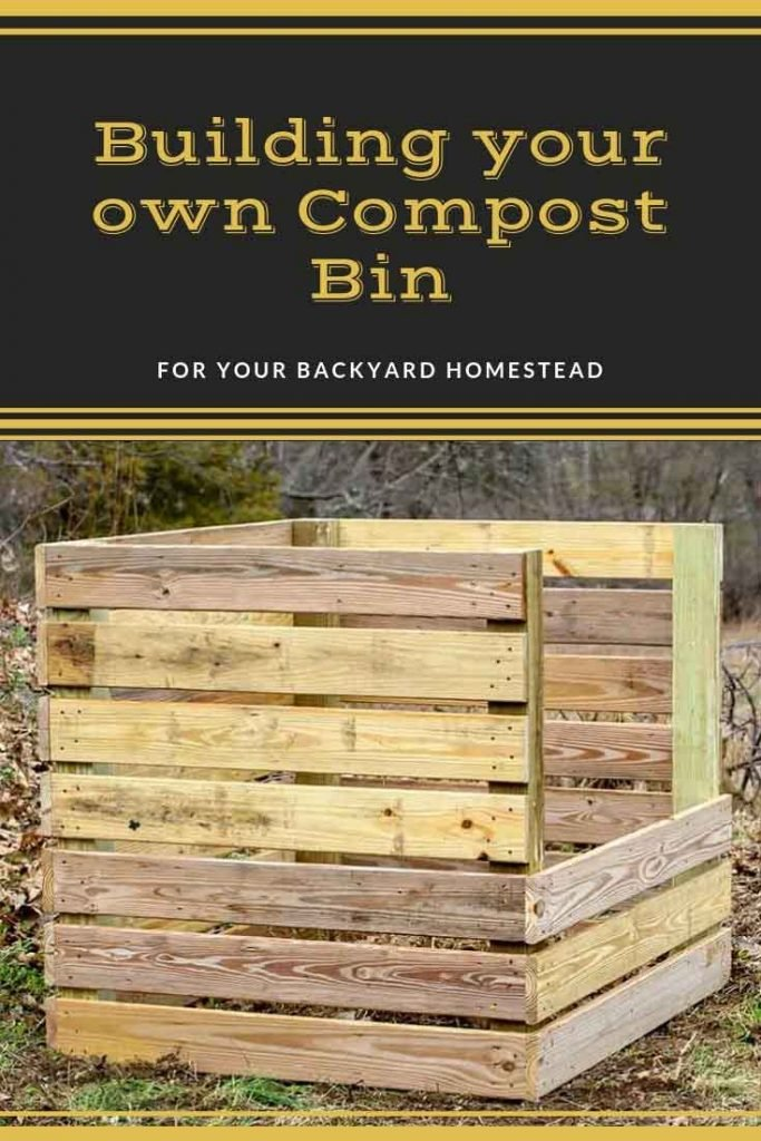 Built compost bin pinnable image