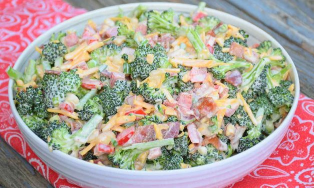 Broccoli Salad with Bacon, Jalapeno, and Macadamia