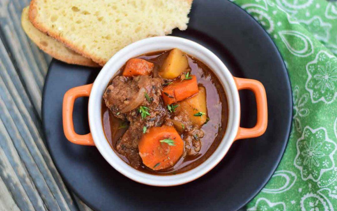 Crockpot Venison Stew – warm, hearty, comfort food!