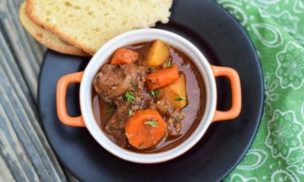 Crockpot Venison Stew – warm, hearty, comfort food!