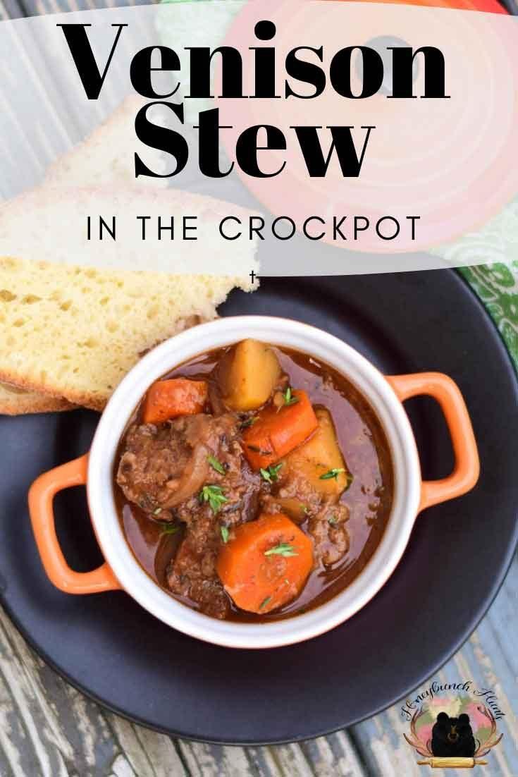 Crockpot Venison Stew #slowcooker #venison #stew #gamemeat