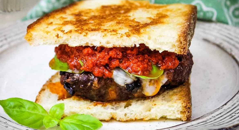 Venison Burger Recipe: Caprese Burger