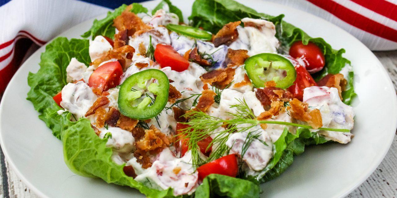 Potato Salad Recipe with Bacon, Dill, and Jalapeno