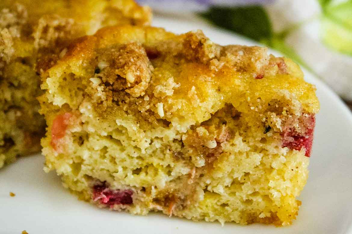 featured image for rhubarb muffins with crumb topping
