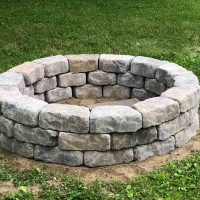 fully assembled stone fire pit