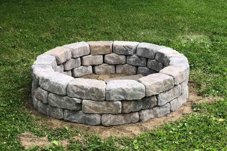 DIY Stone Fire Pit for your Backyard Homestead
