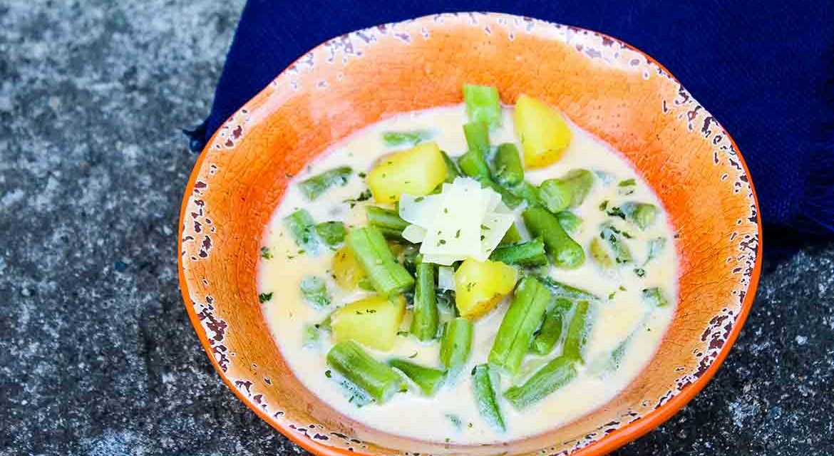 Green Bean Soup Recipe – in a milk based broth