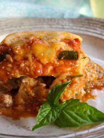 Keto Zucchini Lasagna with Italian Sausage