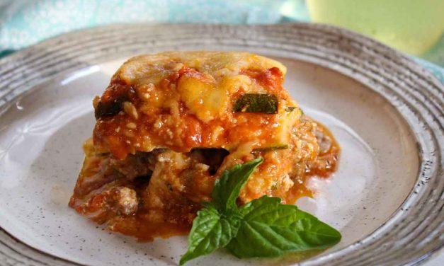 Zucchini Lasagna with Italian Sausage