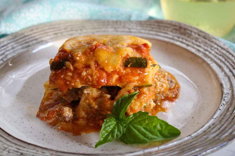 Zucchini Lasagna With Italian Sausage Honeybunch Hunts