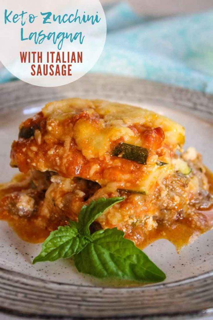 Pinnable Image for Keto Zucchini Lasagna
