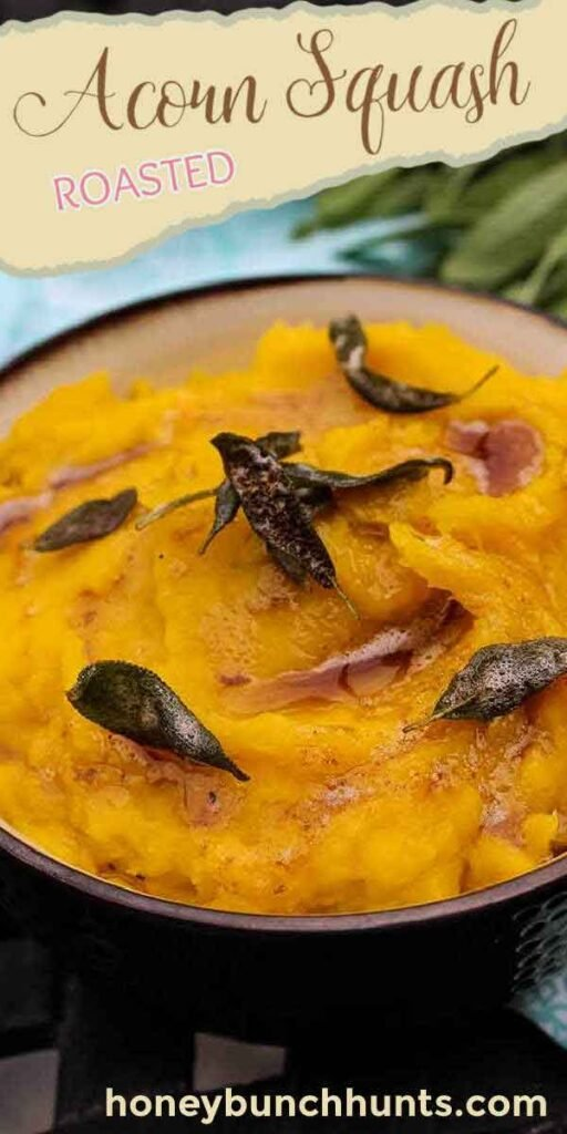 pinnable image for Roasted Acorn Squash