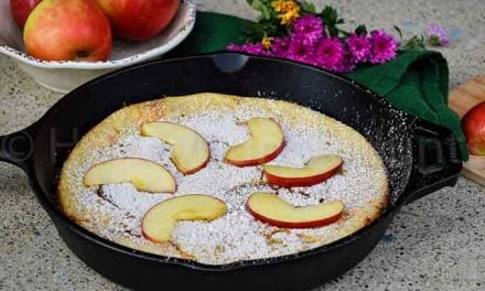 Apple Dutch Baby (Low Carb Paleo recipe)