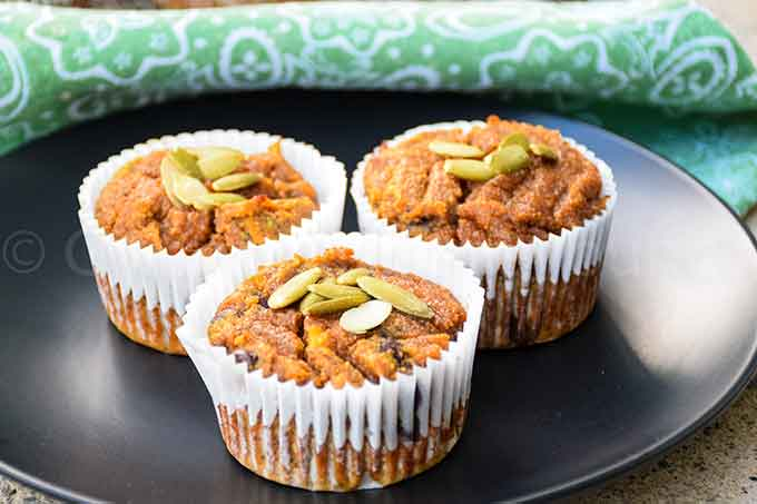 Paleo Pumpkin Muffins with Chocolate Chips