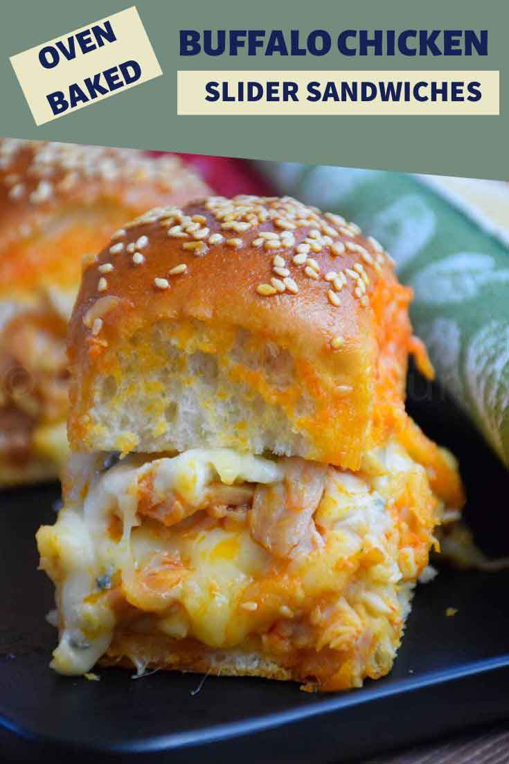 Oven Baked Buffalo Chicken Sliders are perfect for parties and game day, and just as delicious as a meal!