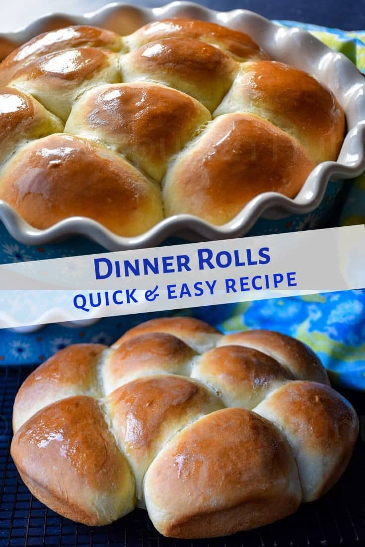 Quick Dinner Rolls are perfect for those times when you need a bread for dinner fast. These are delicious, soft, and sweet! #dinnerrolls #baking
