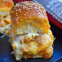 Oven Baked Buffalo Chicken Sliders Featured Image