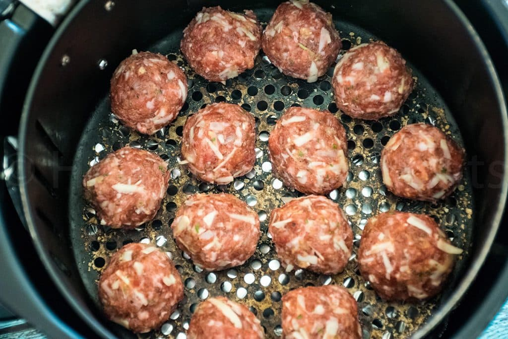 venison meatballs in the air fryer
