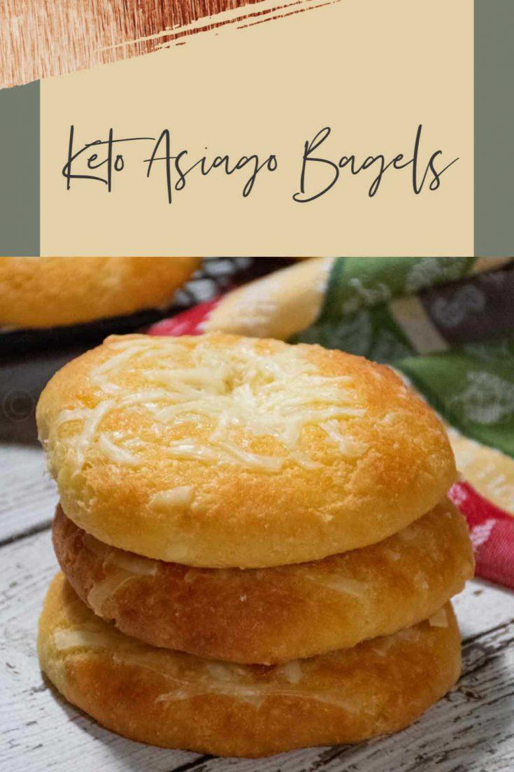 Low Carb Keto Asiago Bagels #ketobagel #baking #asiago #bagels #HHrecipes