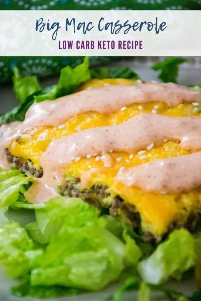 Big Mac Casserole Pinnable Image