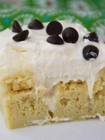 Keto Cannoli Poke Cake