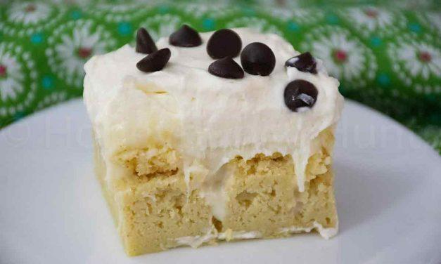 Keto Cannoli Poke Cake – 3 net carbs