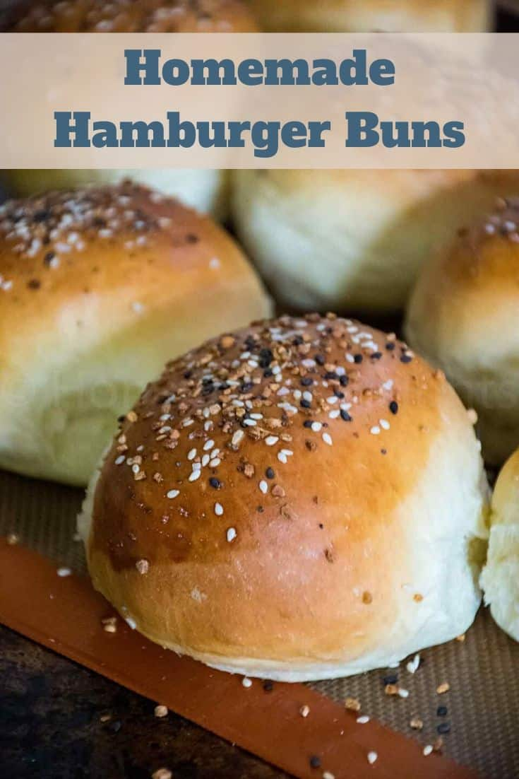 Soft, tender, and delicious homemade hamburger buns are sturdy enough for the heartiest of burgers. #homemade #burgerbuns #hamburgerbuns #bread #rolls #HHrecipes