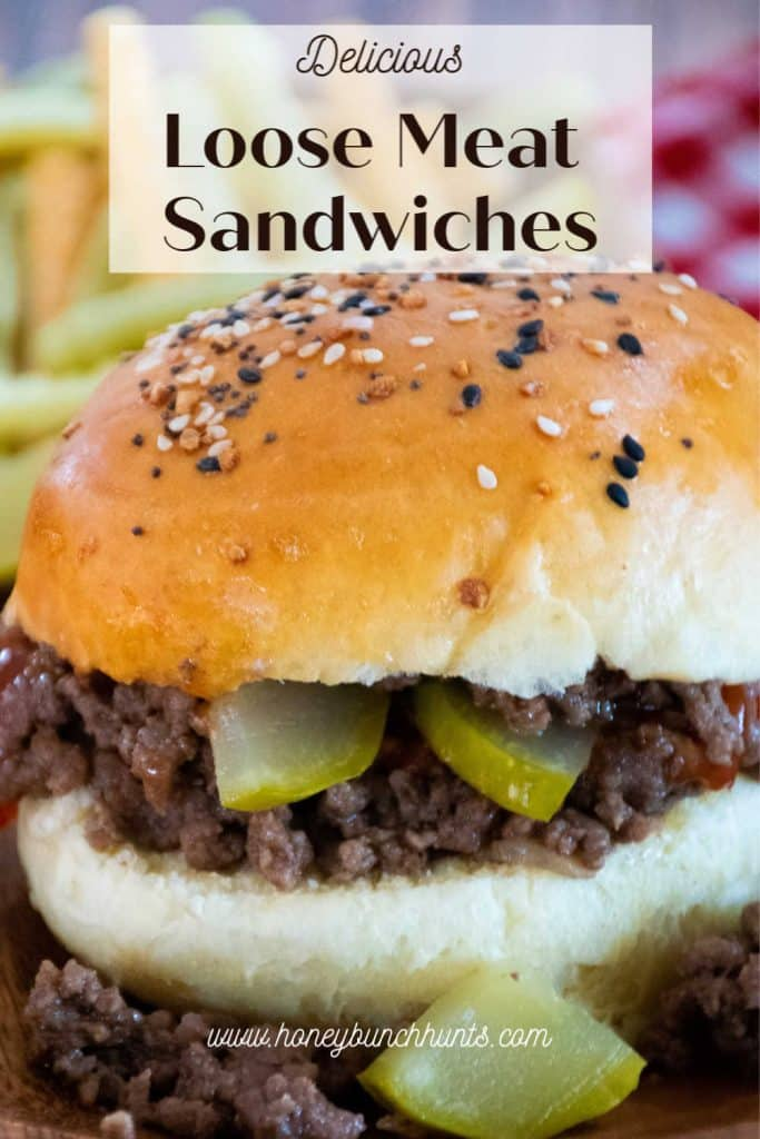 Loose Meat Sandwiches Pinnable Image