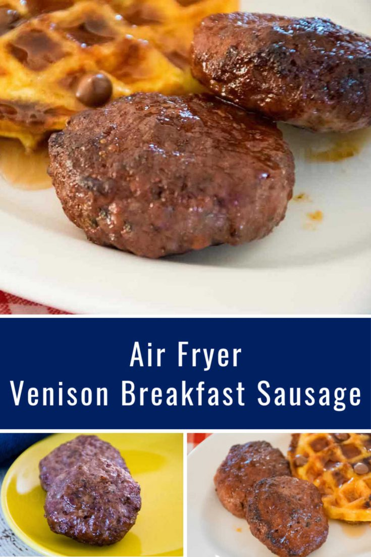 Venison Breakfast Sausage made in the air fryer has 0 carbs and is a delicious easy breakfast recipe #venison #pork #sausage #airfryer #HHrecipes
