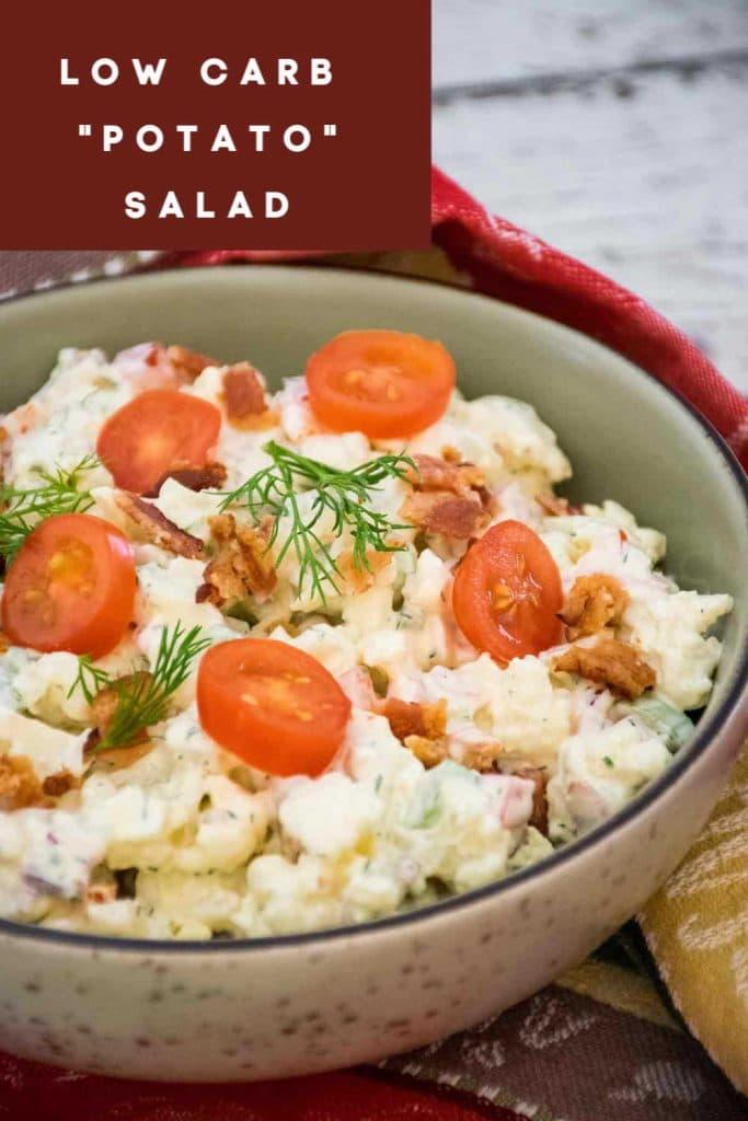 Keto Potato Salad Pinnable Image