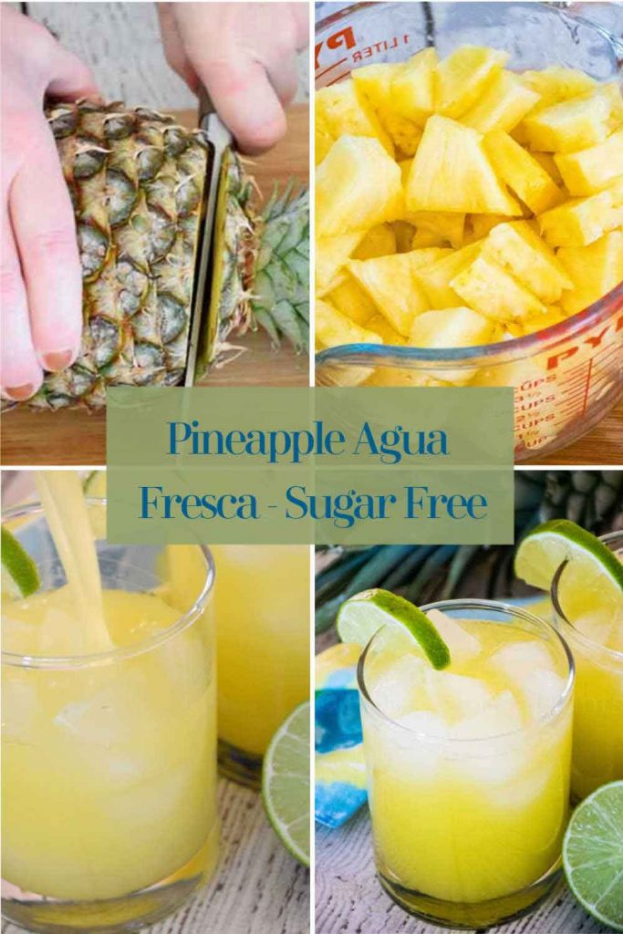 pinnable image for pineapple agua fresca