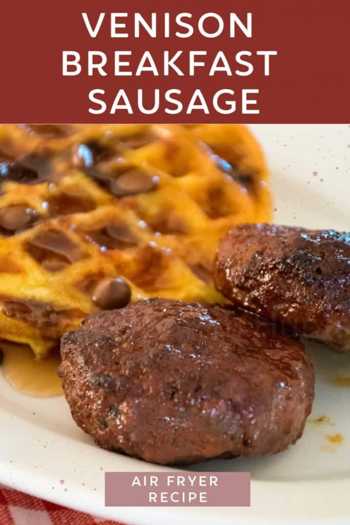 pinnable image for venison breakfast sausage