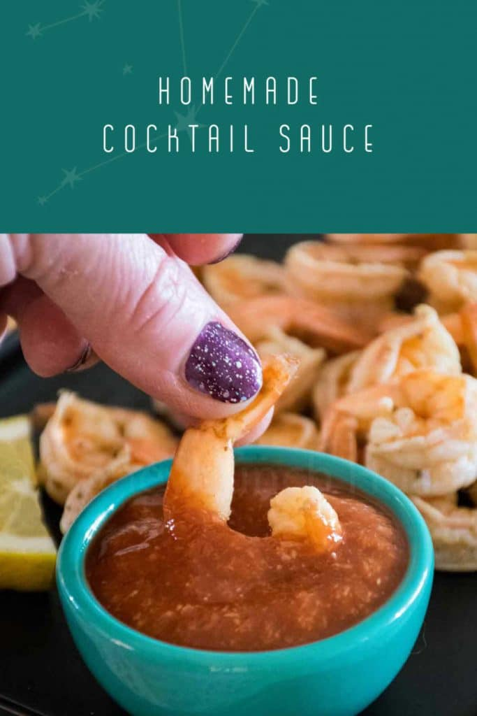 Pinnable Image for Homemade Cocktail Sauce