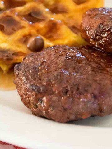 Venison Breakfast Sausage on a plate