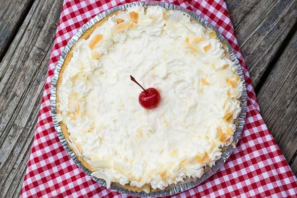 Pina Colada Pie – No Bake Recipe