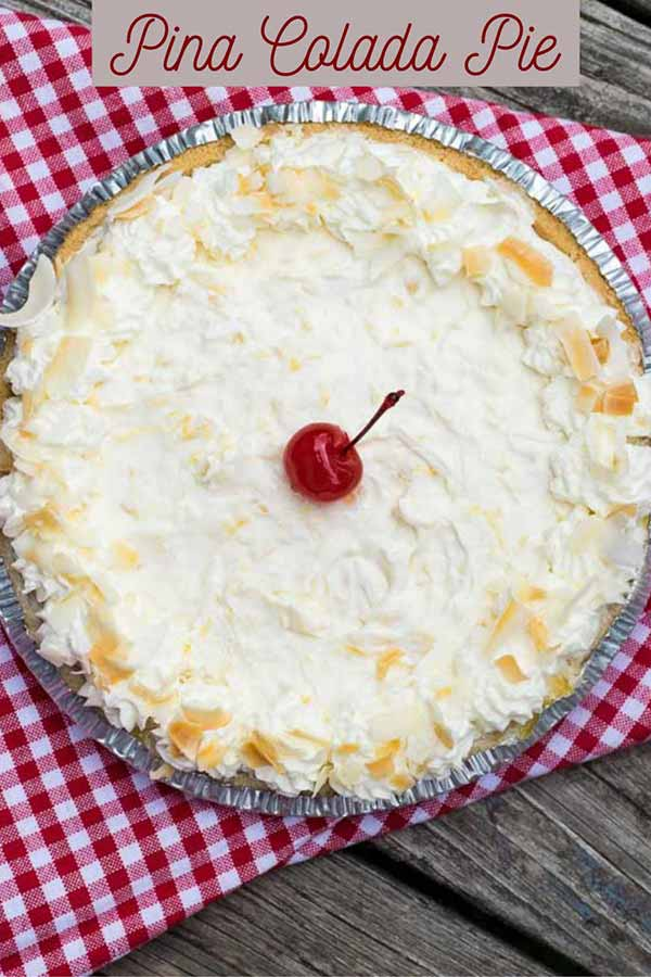 Pinnable Image for Pina Colada Pie
