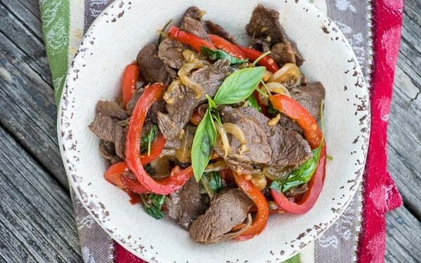 Thai Basil Venison {Low carb, Keto, Paleo friendly}