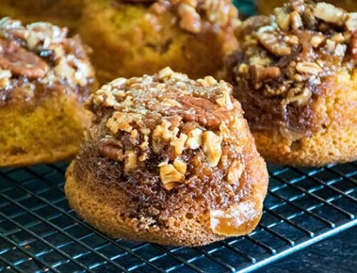 Praline Pumpkin Muffins – Sticky Bun Muffin Recipe