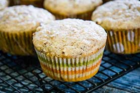 applesauce muffins on cooling rack