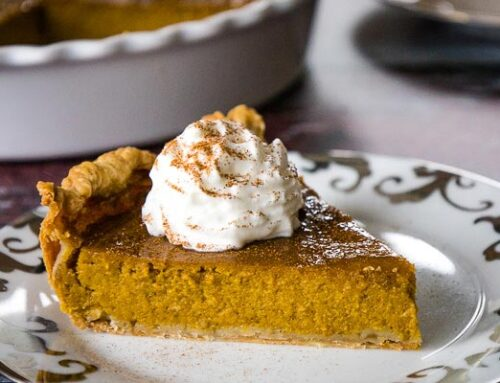 Maple Pumpkin Pie with Cinnamon Whip Topping