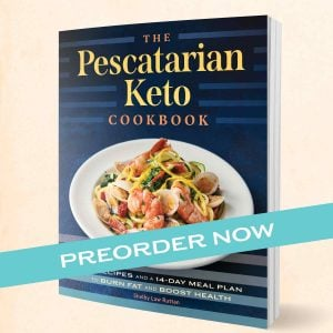 Prescatarian Keto Cookbook cover Preorder image