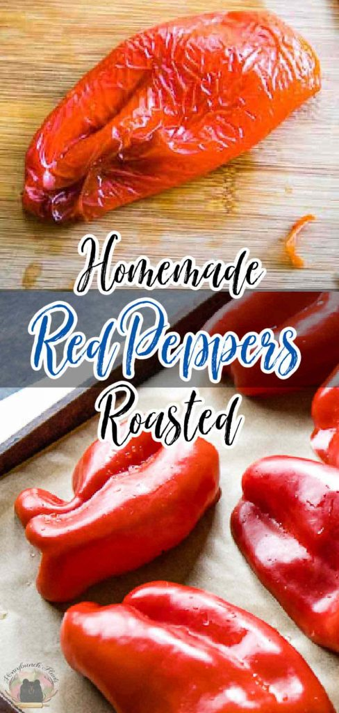 pinnable image for roasted red peppers