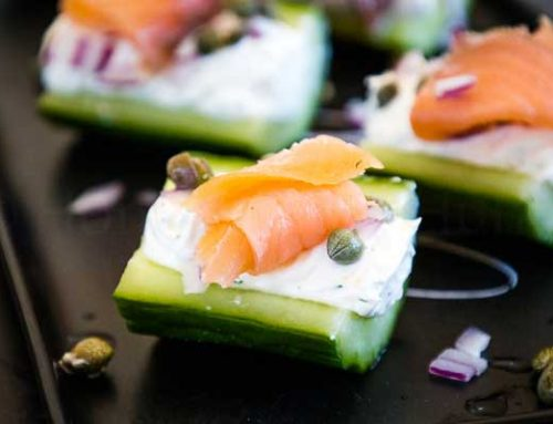 Stuffed Cucumbers with Salmon and Capers
