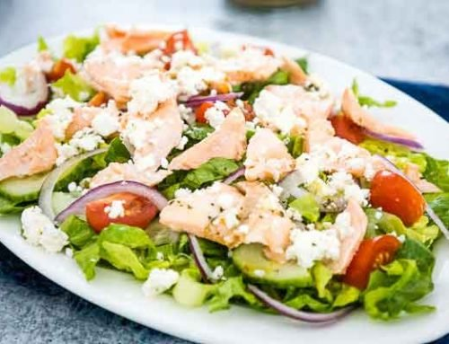 Greek Salmon Salad | Pescatarian Keto Recipe