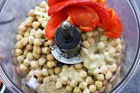 ingredients in food processor before processing