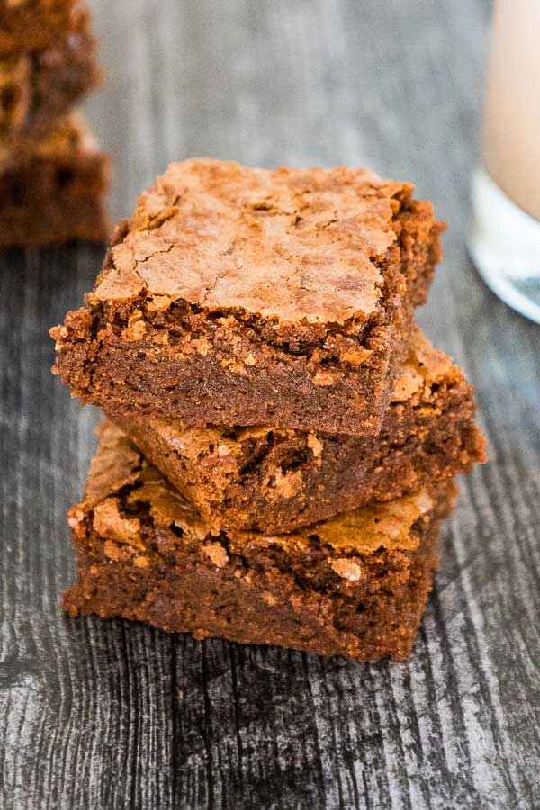 A stack of 3 Mexican Brownies.